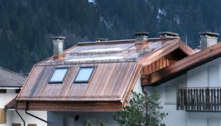 Costo copertura tetto in rame profilati alluminio for Costo della casa di fronte al mattone